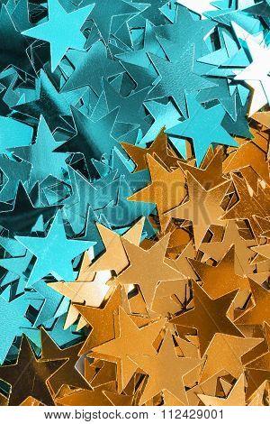Stars Confetti Background