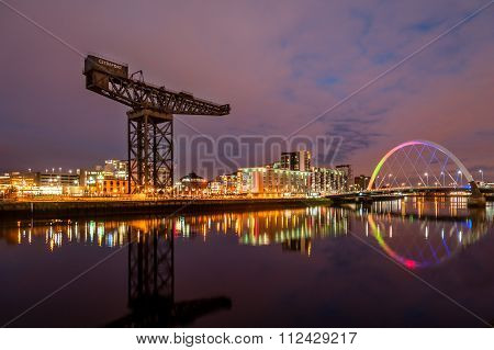 Finnieston Crane And Clyde Arc Bridge.