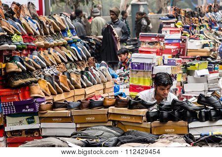 Street market in Old Delhi