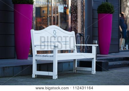 Outdoor Bench In Kaliningrad