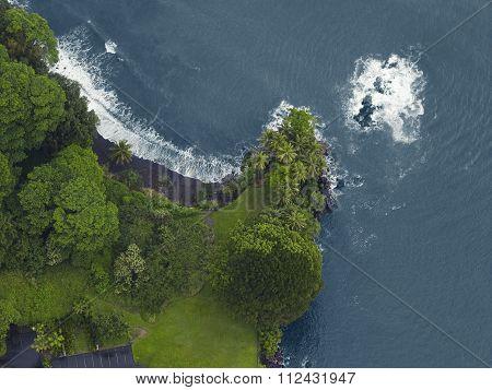 Aerial view of the north coast, Kauai, Hawaii