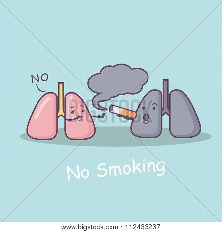 Reject Secondhand Smoke Concept