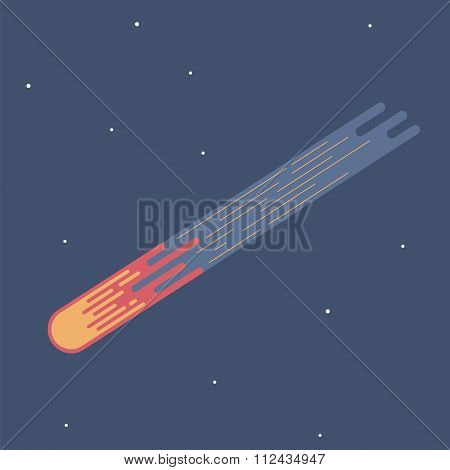 Comet vector illustration