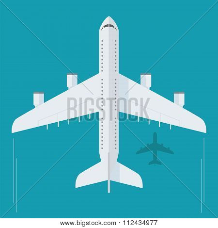 Plane in flat style