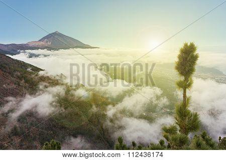 Pico De Teide, Mountain Above The Clouds, Tenerife, Spain