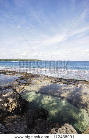 Beautiful Beach On A Low Tide Period