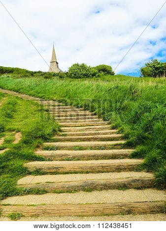 Ladder to hill top