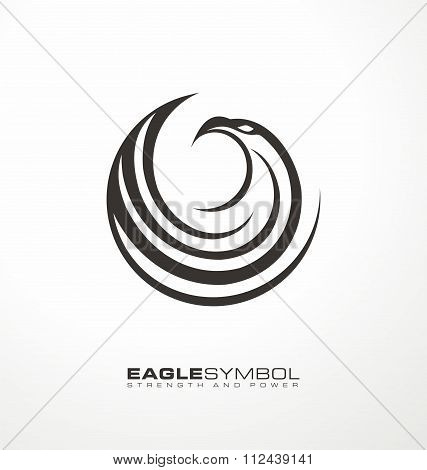Eagle business logo design layout