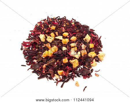 Aromatic Tea Hibiscus Flower Candied Fruit Mix