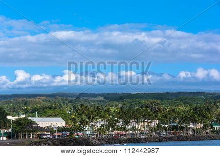 View of Hilo Bay in Big Island, Hawaii