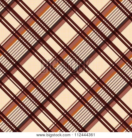 Diagonal Seamless Pattern In Beige And Brown