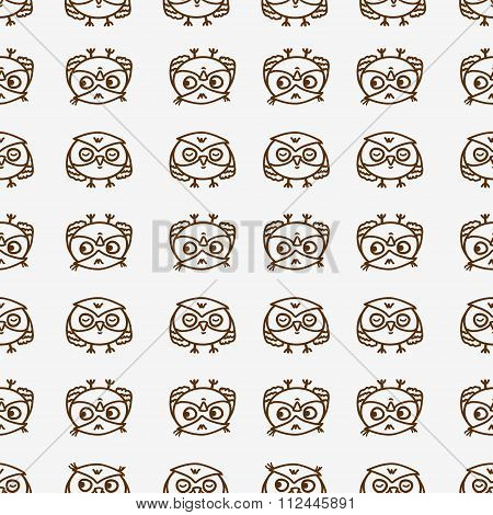 owls seamless pattern 1