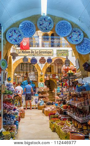 The Pottery Market In Sousse