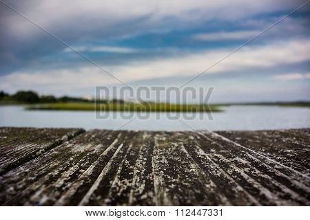 Inlet Over Wooden Boardwalk