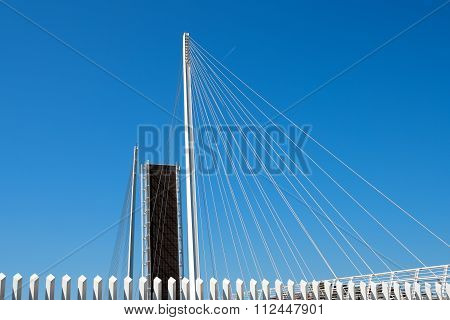 Open Drawbridge With Blue Sky