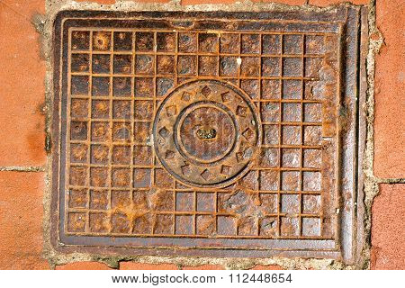 Rusty Manhole Cover