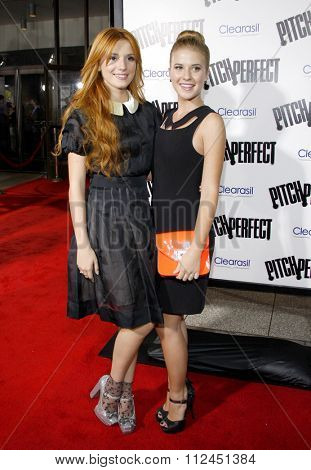Bella Thorne and Caroline Sunshine at the Los Angeles premiere of