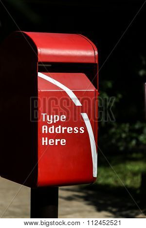 Red Mailbox In The Park