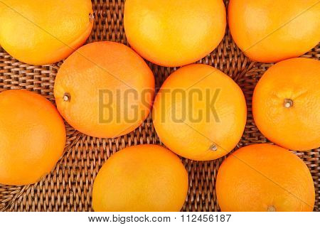 Orange On Wickered Background