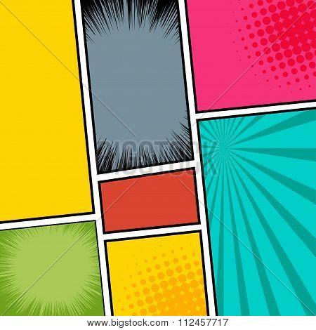comic template Vector Pop-Art.