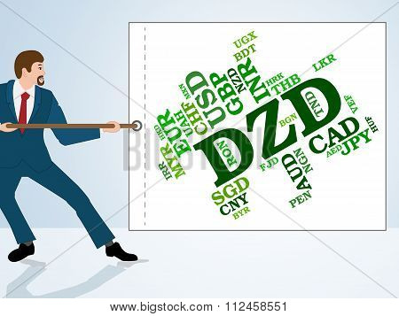 Dzd Currency Shows Foreign Exchange And Banknote
