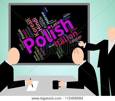 Polish Language Means Translate Lingo And Poland