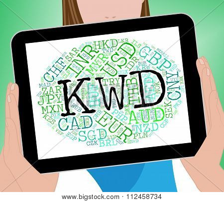 Kwd Currency Shows Exchange Rate And Dinars