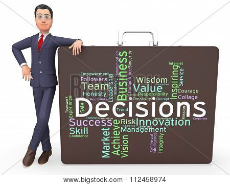 Decision Words Represents Choosing Choices And Wordcloud