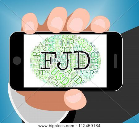 Fjd Currency Shows Fijian Dollars And Banknote