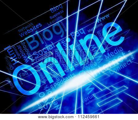 Online Word Shows World Wide Web And Net