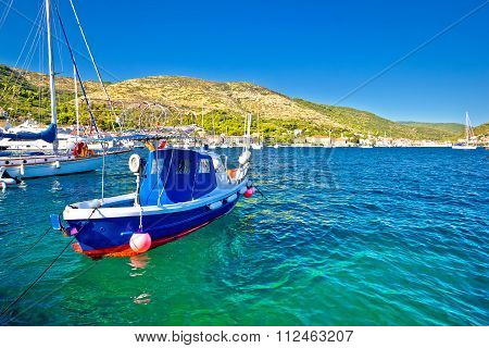 Colorful Sea On Vis Island