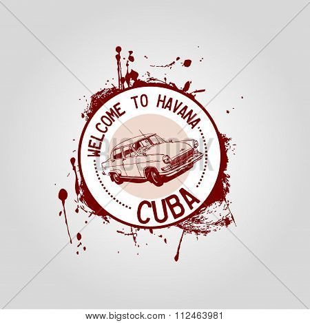 Stamp Welcome to havana