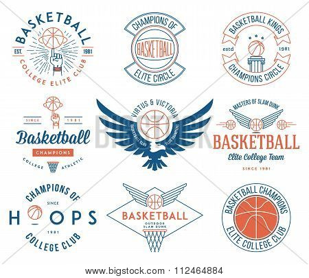 B-ball Badges Colored