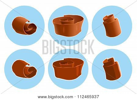 Chocolate shavings icon