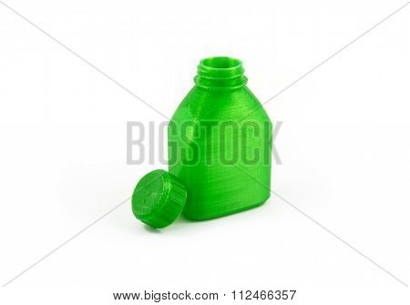 3D Printed Model Of A Bottle And Cap