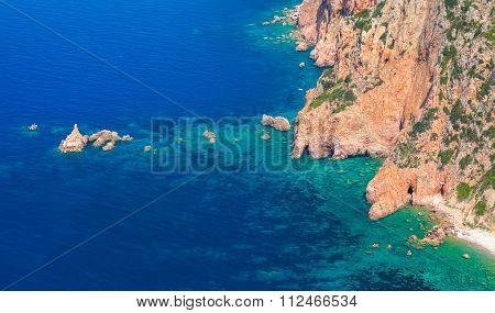 Coastal Landscape Of Corsica, Capo Rosso