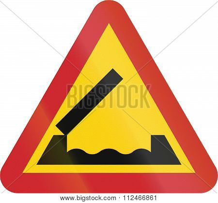 Road Sign Used In Sweden - Drawbridge Ahead
