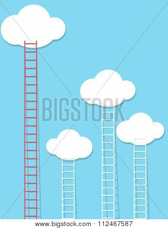 Ladders reaching the sky