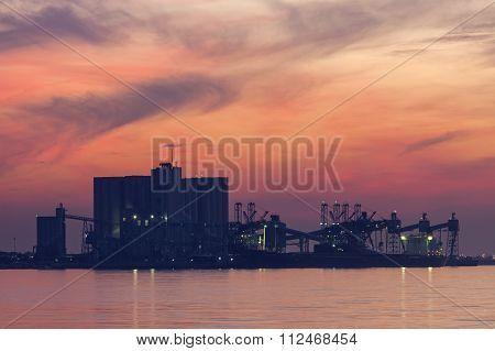 Industrial Area In Lisbon Area