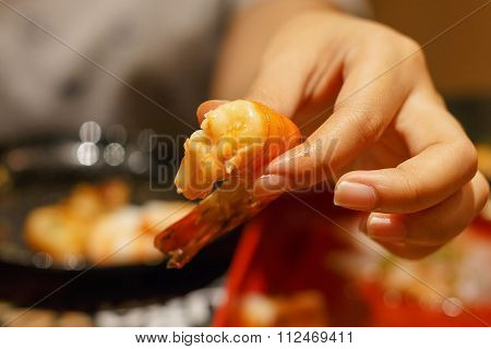 Handle Grilled Prawns Ready To Eat
