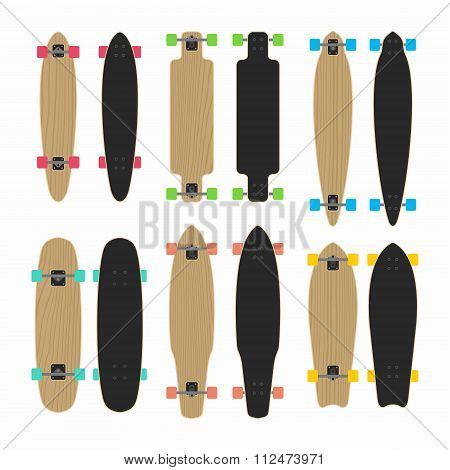 skateboard type set