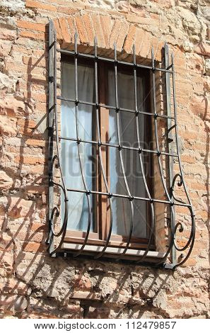Medieval Window with grate