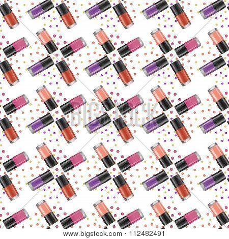 Nail Polishes Seamless Pattern 2