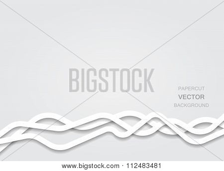 Vector papercut lines background