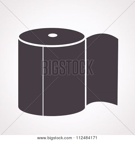 an images of illustration vector Toilet Paper Icon