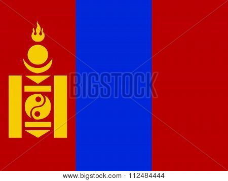 an images of illustration Flag of Mongolia