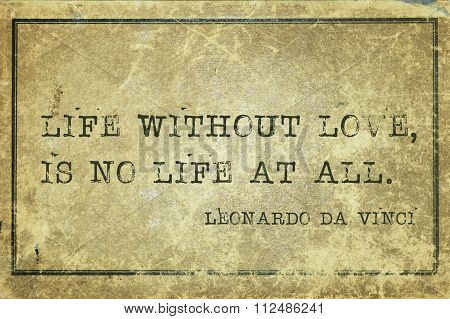 Life No Love Davinci