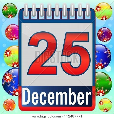 Christmas Day Calendar.