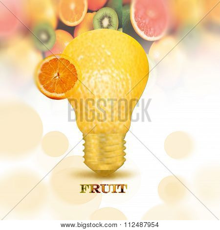 light bulb to the fruit