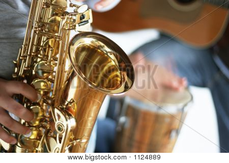 Saxophone, Drums And Guitar
